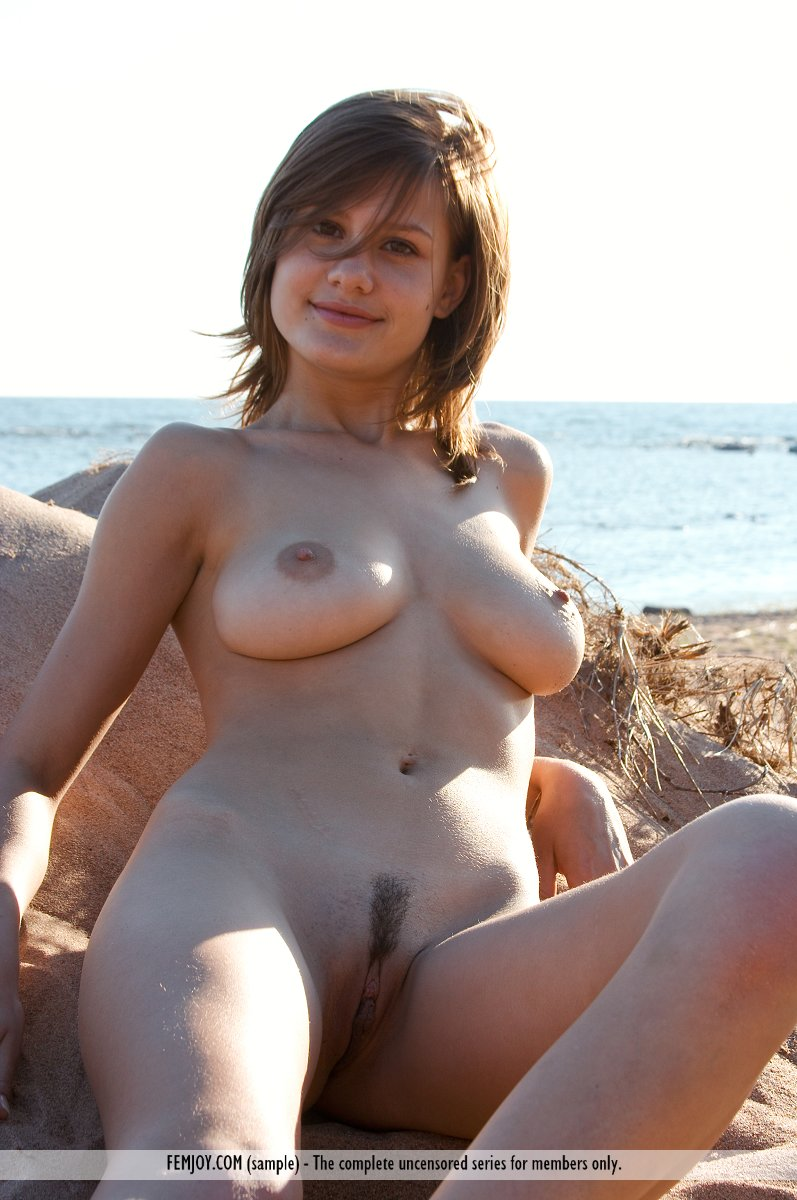 Beach babe naked consider, what