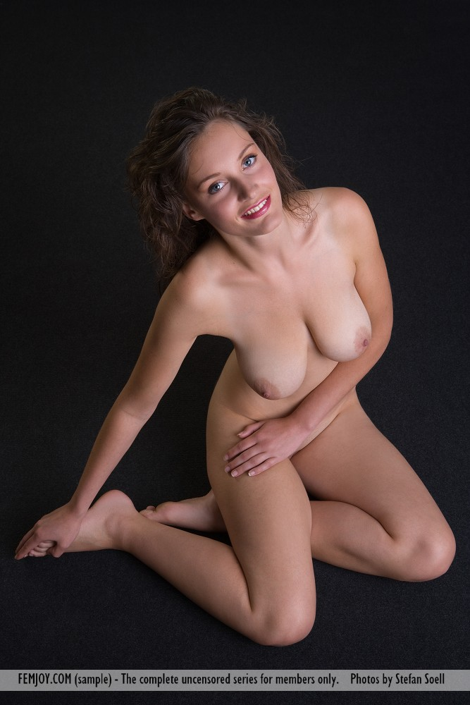 Absolutely Nude babe on floor very pity