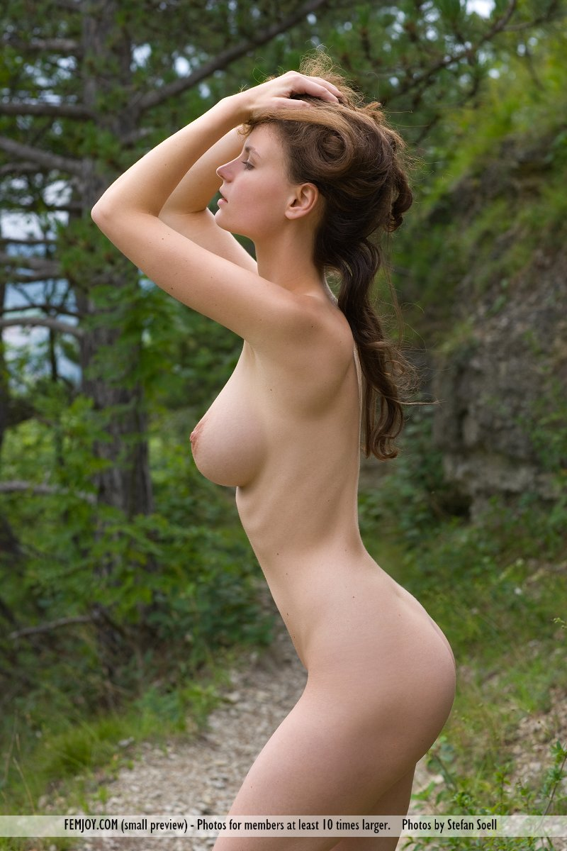Forest path nude