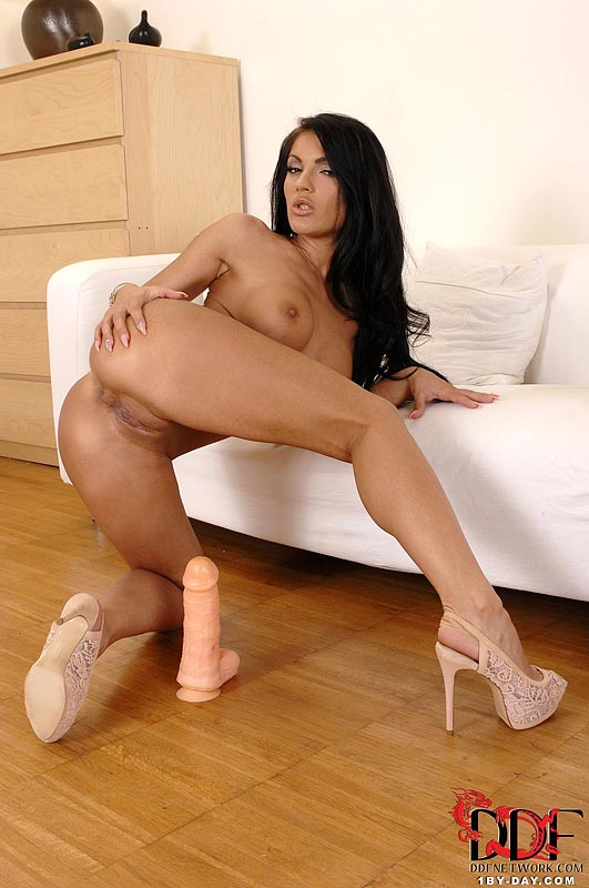 Hot girl with dildo
