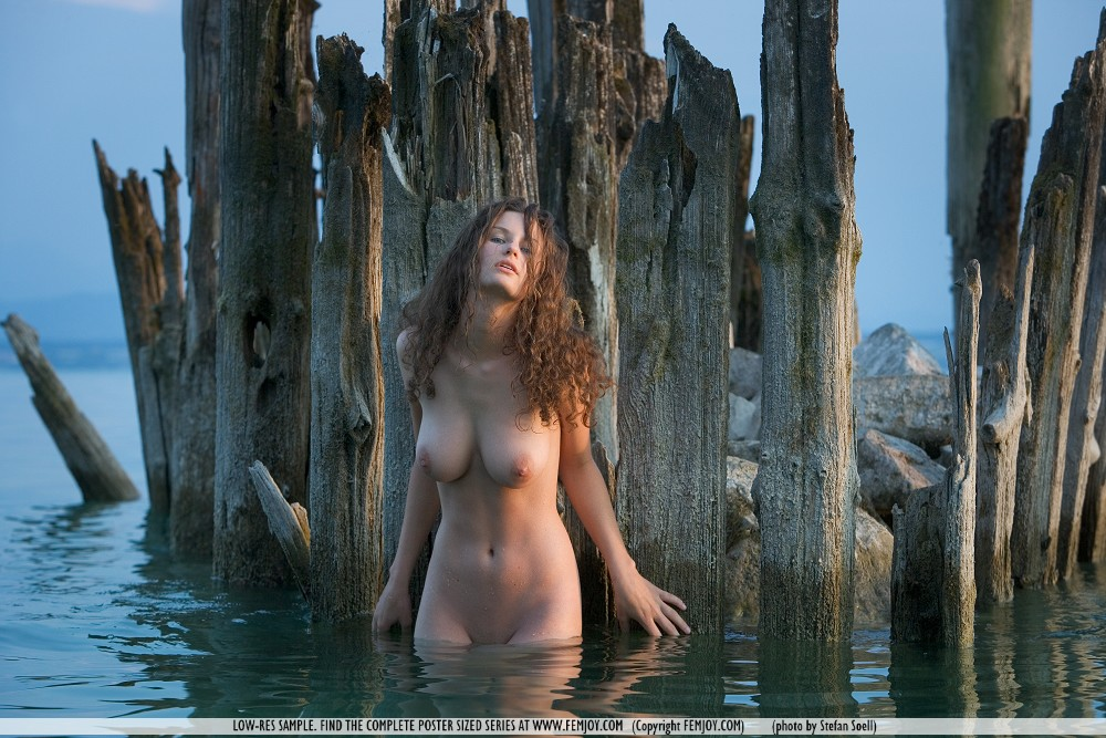 sexy naked girl water
