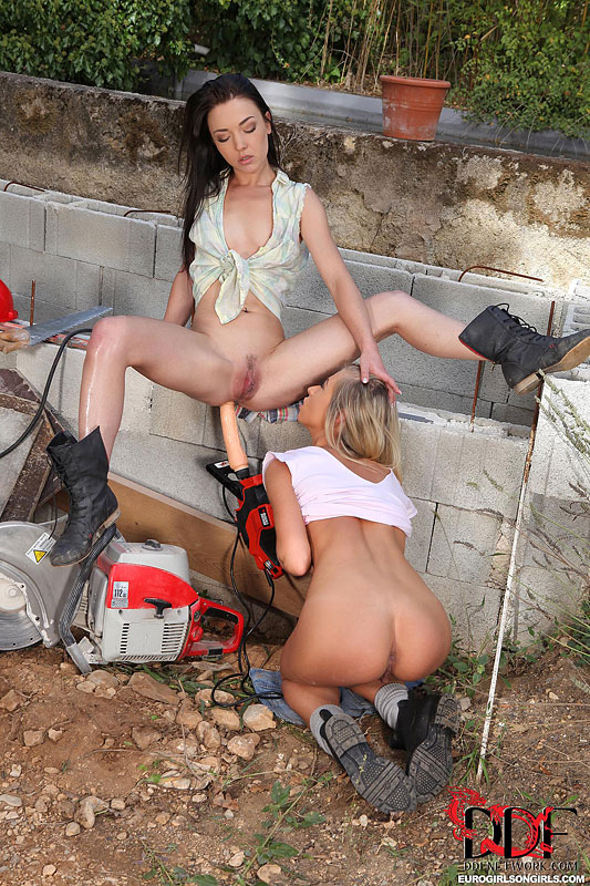 Hot sexy girl construction worker excellent