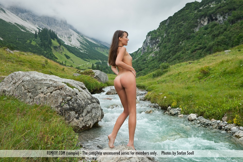 Mountain stream nude girls share