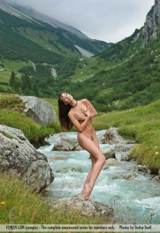 That Mountain stream nude girls