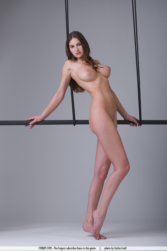 Euro Babes DB » Naked Girl On Trapeze