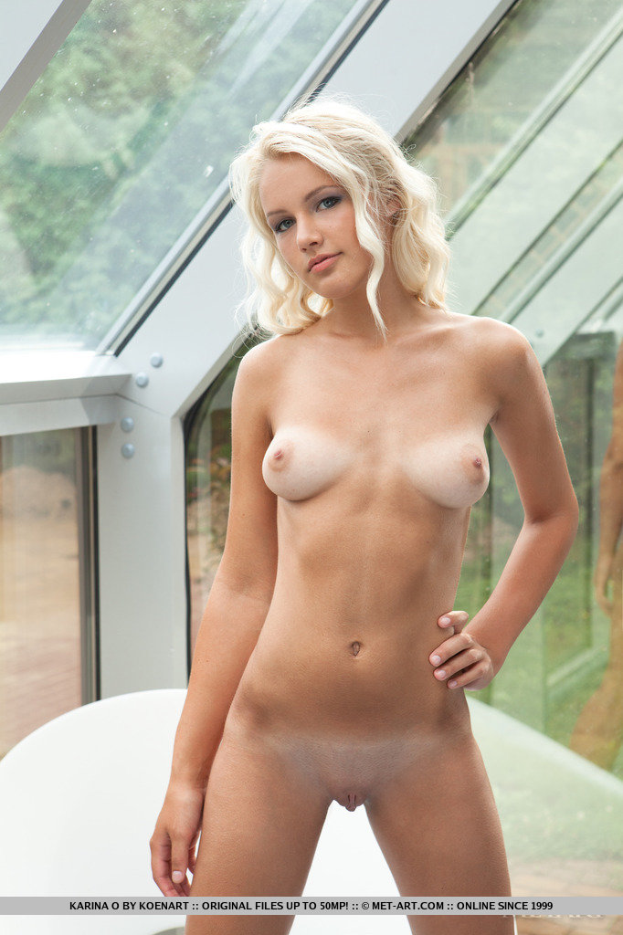 Blonde lines nude tan