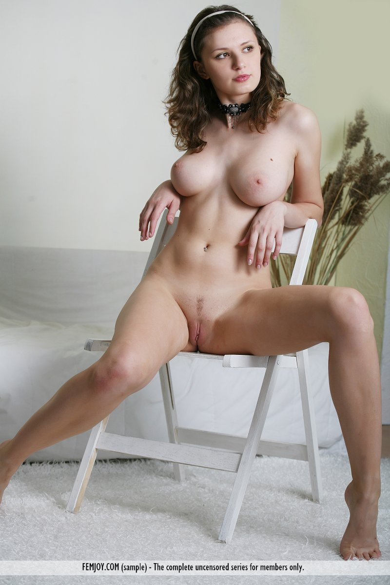 babes topless on chair