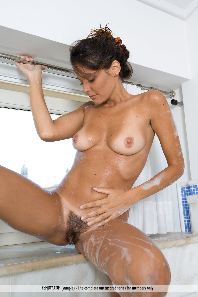 Nude babes shower