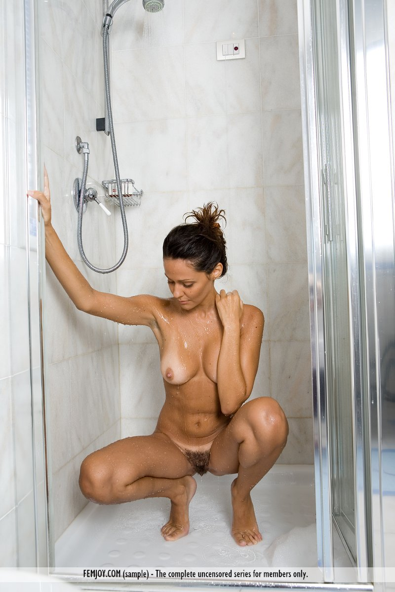 Not deceived Nude girls swimming shower are
